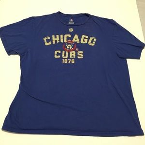 GUC 2XL Vintage-look Distressed Chicago Cubs Shirt